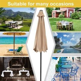 2.7M Hand-cranking Style Waterproof Folding Sunshade Tawny
