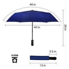 Folding Travel Umbrella Automatic Lightweight Compact Portable Windproof Rain Umbrellas for Men