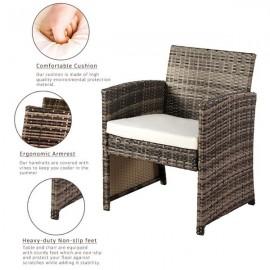 Outdoor Leisure Rattan Furniture Four-Piece-Grey