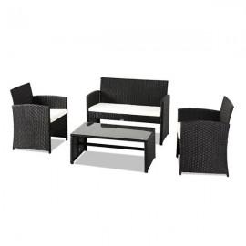 Outdoor Leisure Rattan Furniture Four-Piece-Black