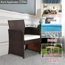 Outdoor Leisure Rattan Furniture Four-Piece-Brown