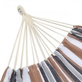[US-W]200*150cm Portable Polyester & Cotton Hammock Coffee Strip