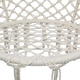Round Tassel Cotton Sling Beige