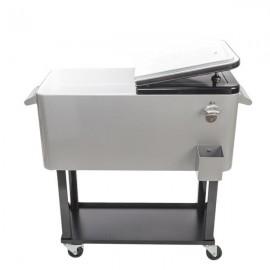 80QT Iron Spray Cooler with Shelf