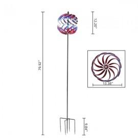 Multicolored Windmill 3D Spherical Shape