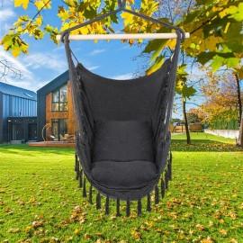 Pillow Tassel Hanging Chair Gray