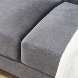 "Mid-Century Modern Sofa, Fabric, 79""W, Gray"