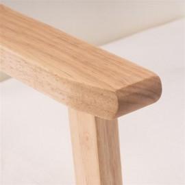 (64x59x71cm) Simple Fabric Wood Armrest Single Sofa Burlywood   Beige