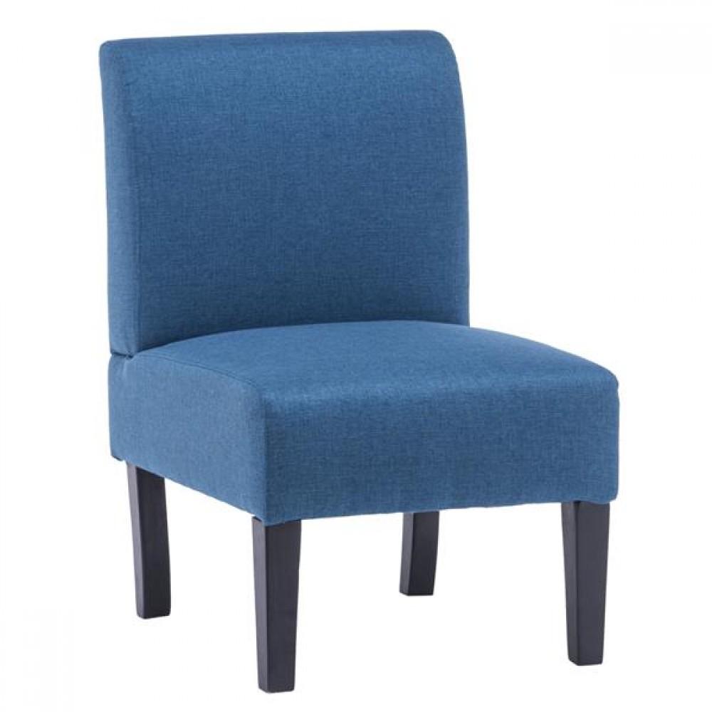 Armrest Fabric Single Leisure Chair Blue [68x50x80cm]