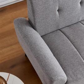 "Modern ployester fabric sofa71""W Gray"