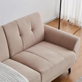"Modern ployester fabric sofa 71""W Beige"