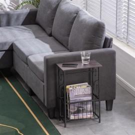 (37 x 20 x 55)cm Multifunctional Bathroom Table / Interior Side Table Tissue Magazine Rack Dark Brown