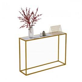 Marble Minimalist Porch Table [106x28x76cm] White
