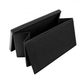 F-01L Practical PVC Leather Square Shape Footstool Black