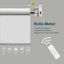 White motor driven shading roller blind 110*150 cm