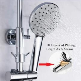 High Pressure Handheld Shower Head Multi-functions 6 Spray Setting Rain Massage, SADALAK Bathroom Chrome Surface with Spray Modes Hose and Adjustable Bracket Replacing Toilet Bidet Sprayer