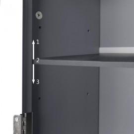FCH Two-Door Toilet Cabinet Grey