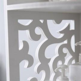 (30x30x120cm) Pattern Carved Bathroom Corner Shelf