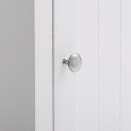 FCH One Door & Three Layers Bathroom Cabinet White