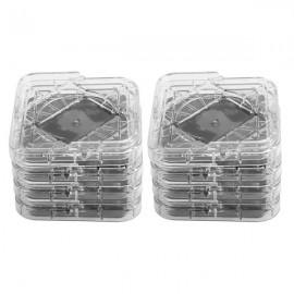 8Pcs/Set Non‑Slip Furniture Leg Pad Mat for Table Desk Bed Sofa Chairs (Transparent White)