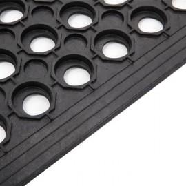 Bar Kitchen Industrial Multi-functional Anti-fatigue Drainage Rubber Non-slip Hexagonal Mat 60*90cm