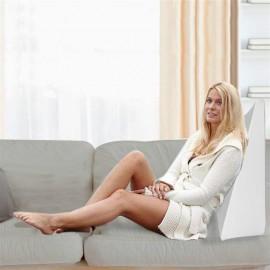 "26""*25""*7.5"" Massage Back Lumbar Memory Foam Wedge Support Pillow White"