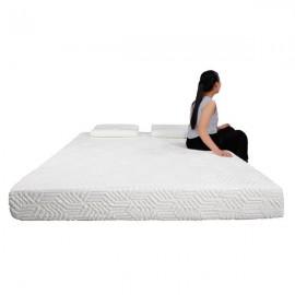 "8"" Three Layers Cool Medium High Softness Cotton Mattress with 2 Pillows Full Size"