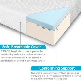 "8"" Three Layers Cool Medium High Softness Cotton Mattress with 2 Pillows Twin Size"