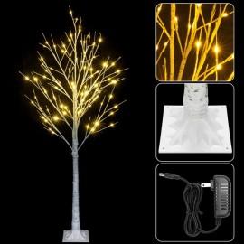 4FT Snowflake Christmas Tree with 48 LED Lamp