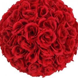 10Pcs 25CM Flower Balls Wedding Decoration Wine Red