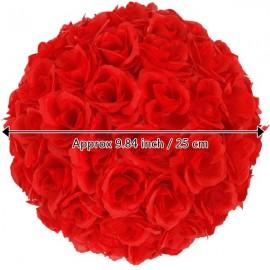 10Pcs 25CM Flower Balls Wedding Decoration Red