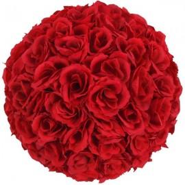 5Pcs 25CM Flower Balls Wedding Decoration Wine Red