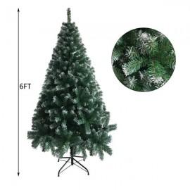 6FT Iron Leg White PVC 650 Branches Christmas Tree