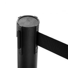 2pcs 32 x 90cm Stainless Steel Telescopic Handrails Black