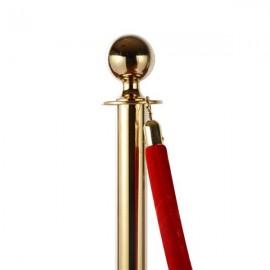 6pcs 32*95CM Concierge Columns Pillars 3 1.5M velvet ropes Gold