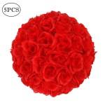 5Pcs 25CM Flower Balls Wedding Decoration Red